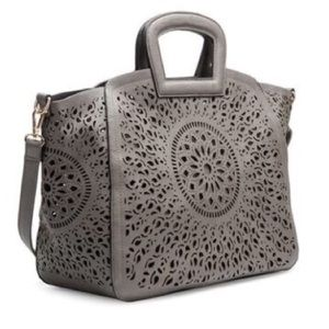Melie Bianco Nancy laser cut detail Tote
